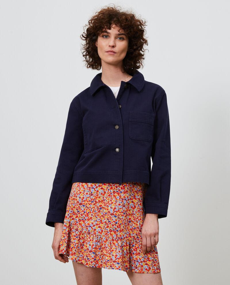 Kurze Jacke aus Baumwolle Maritime blue Nana