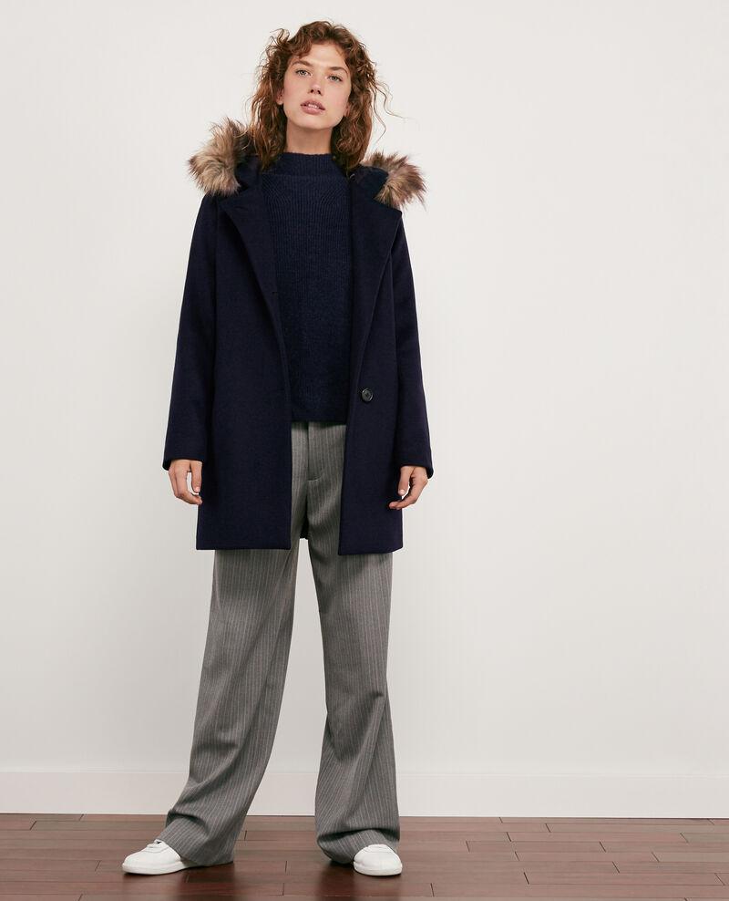 Mantel aus Wolle Navy Dalexo