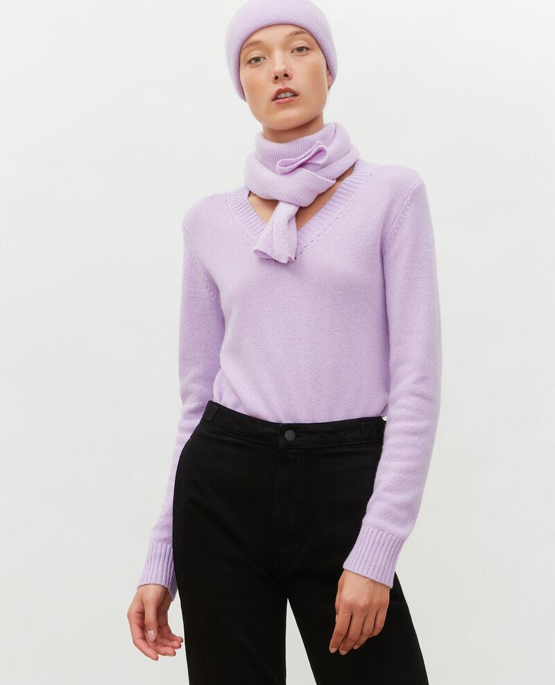 Cardigan aus Kaschmir mit V-Ausschnitt Pastel lilac Millac