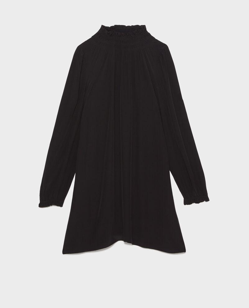Kurzes gesmoktes Kleid Black beauty Pousson