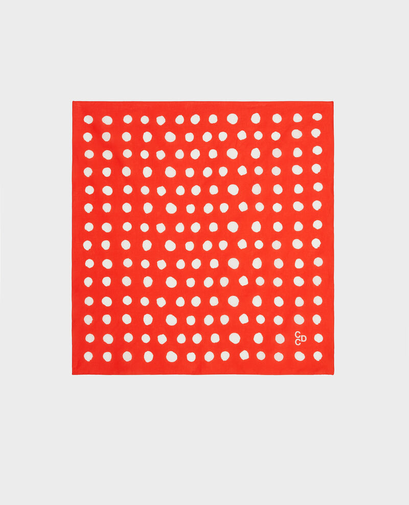 Tuch aus Baumwolle Fiery red Lury