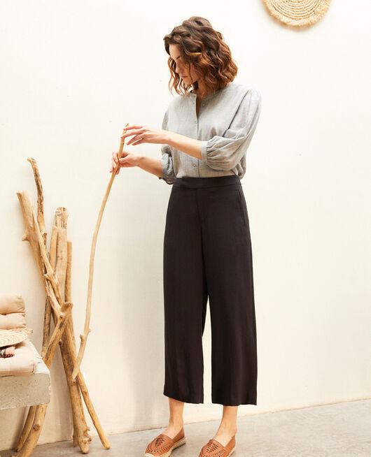Hose mit hoher Taille NOIR