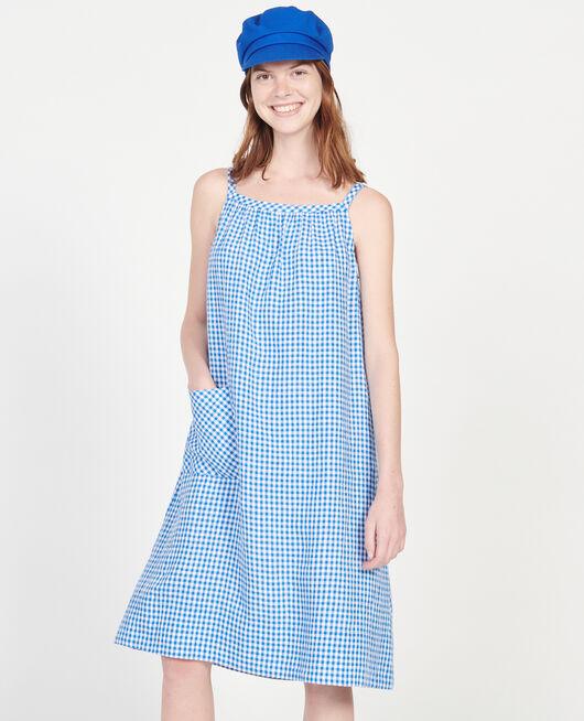 Baumwollkleid VICHY PRINCESS BLUE GARDENIA