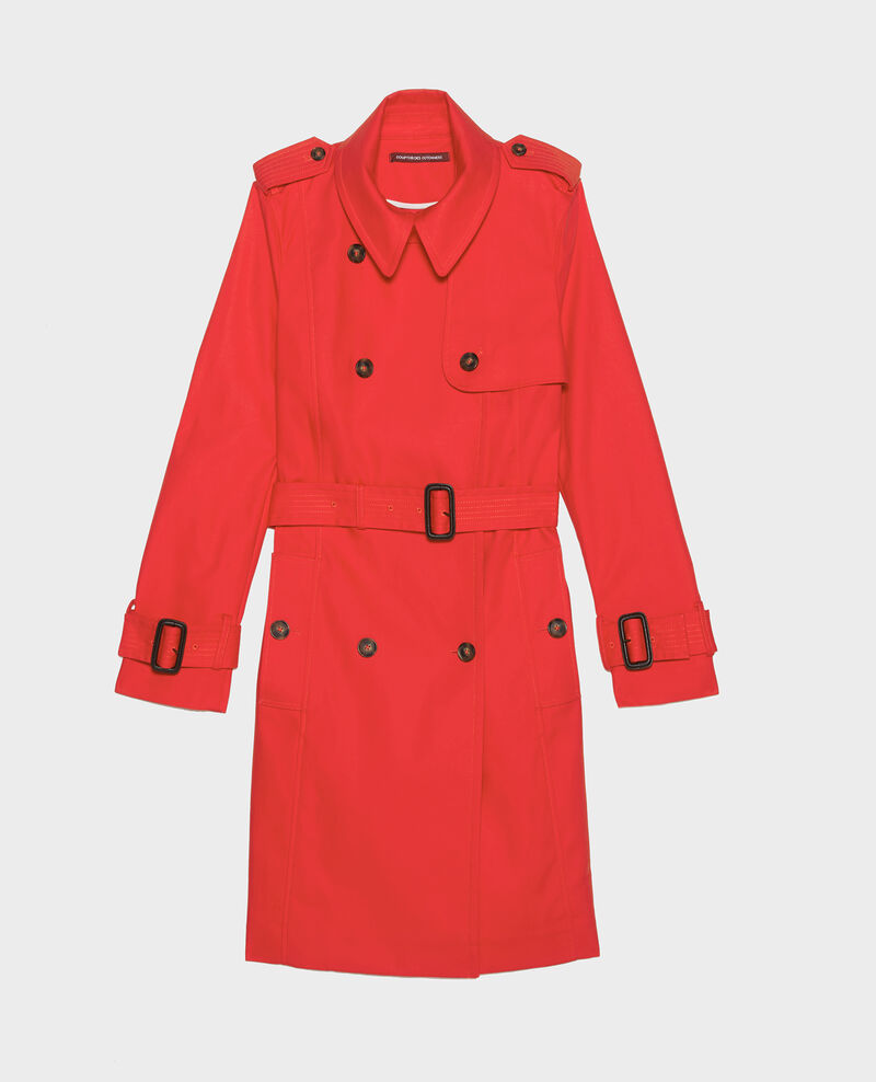 Zeitloser Trenchcoat Fiery red Lambert