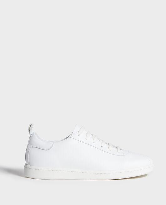 Ledersneaker mit Schnürsenkeln OPTICAL WHITE