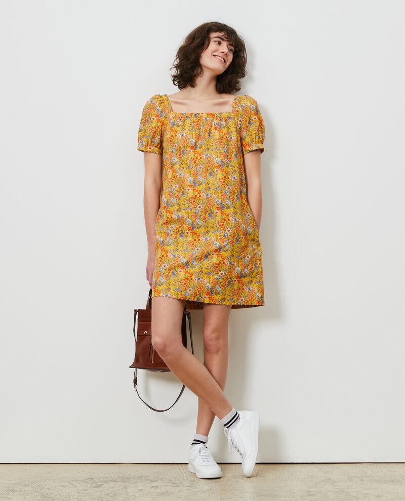 Kurzes Kleid aus Baumwolle und Seide Prairie spectra Neffa