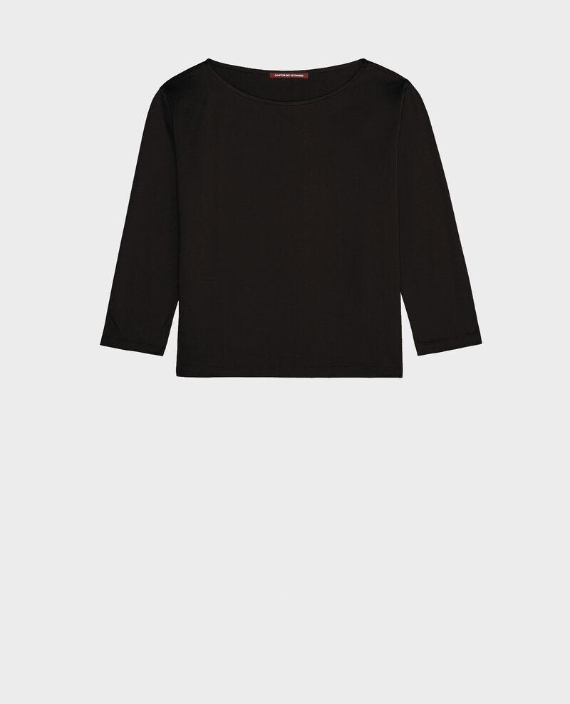 T-Shirt aus ägyptischer Baumwolle Black beauty Lotel