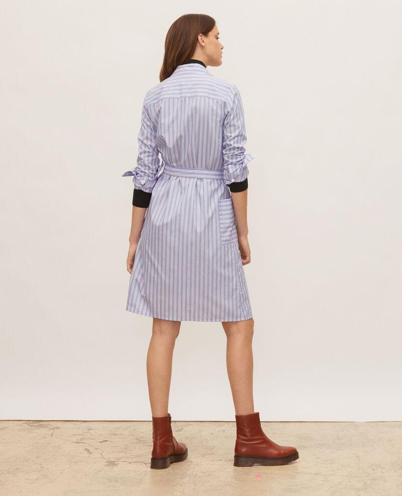 Hemdkleid aus Baumwolle mit Gürtel Popeline stripes Lenka