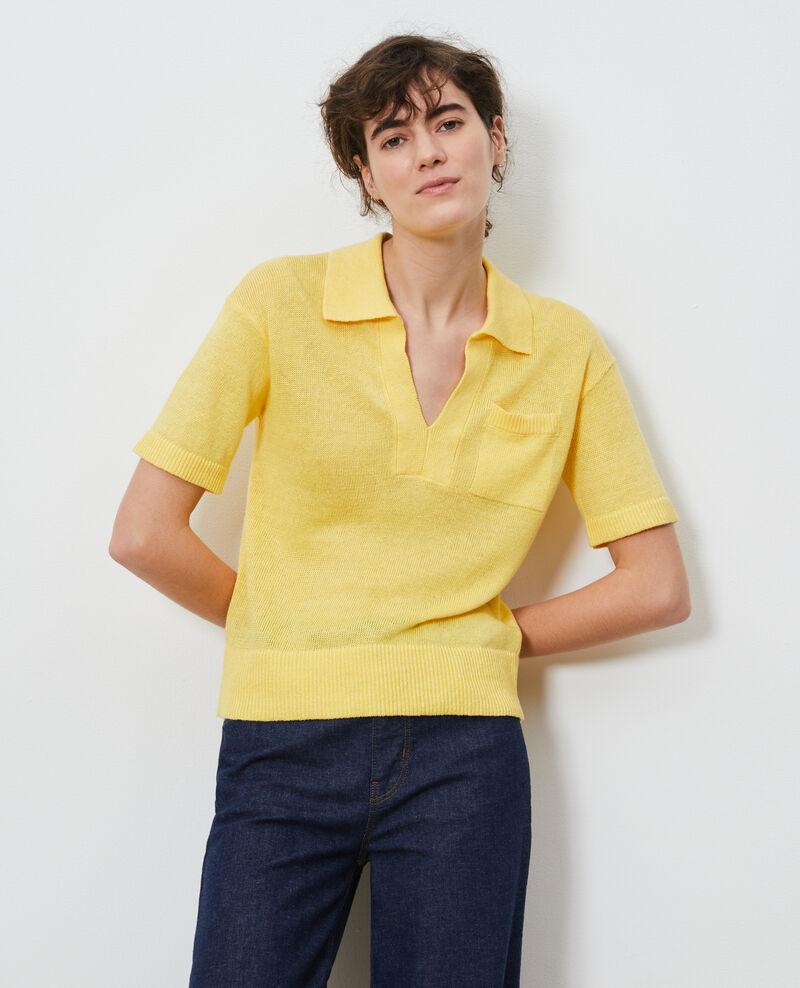 Leichtes Poloshirt aus Leinen Lemon drop Novella