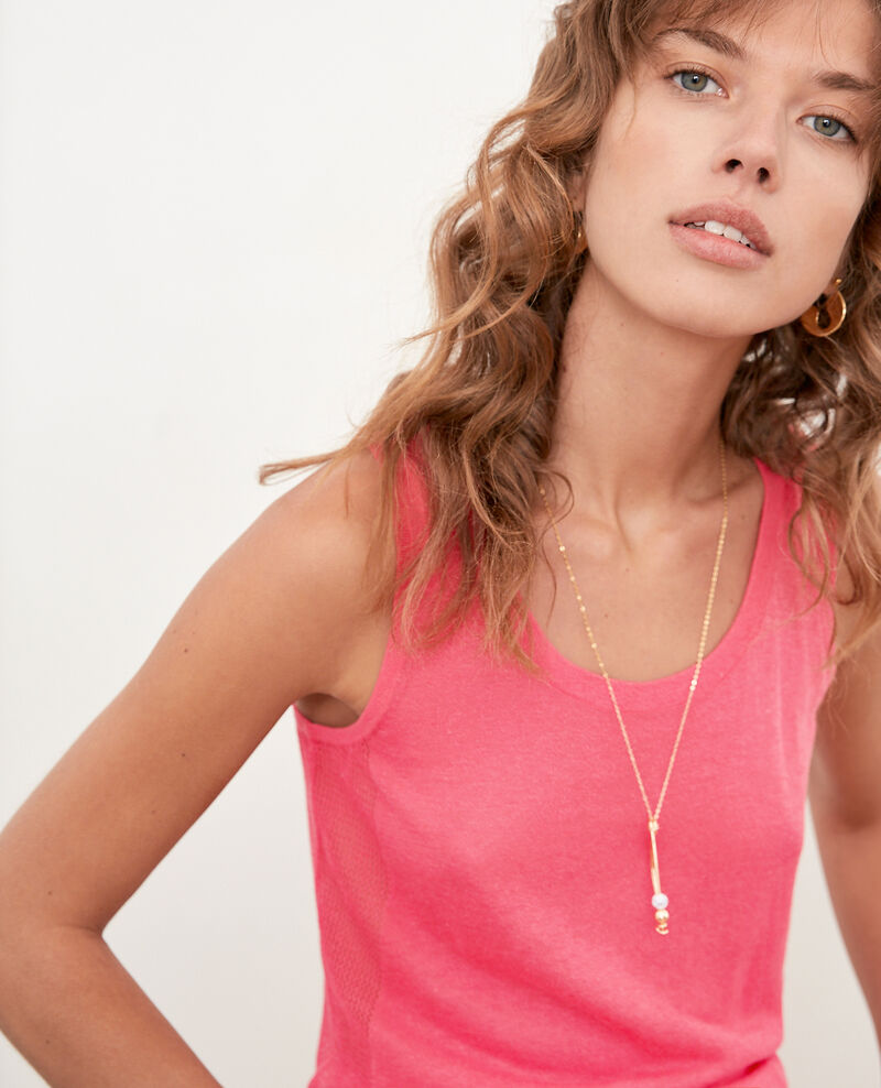 Top aus Strick mit Ajourmusterdetails Ultra pink Flanelle