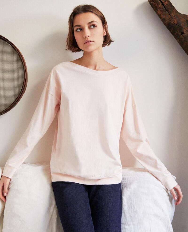 Sweatshirt mit U-Boot-Ausschnitt Rose Inkaja