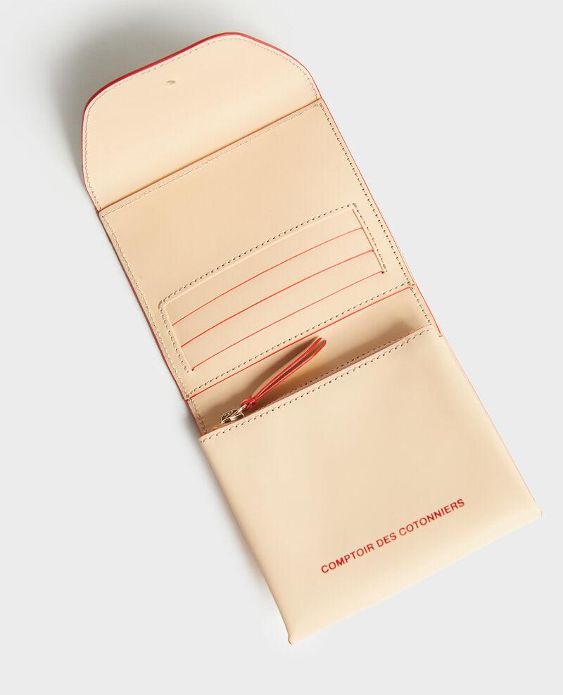 Brieftasche aus Glattleder Stripes fiery red gardenia Lecadet