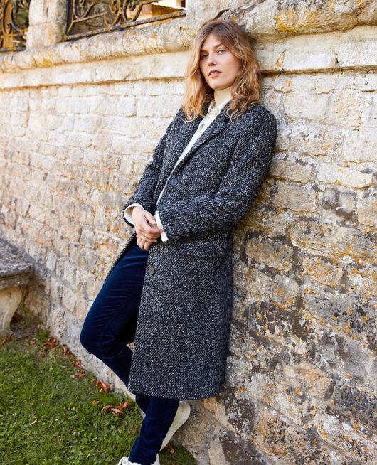Tweed-Mantel GREY MELANGE