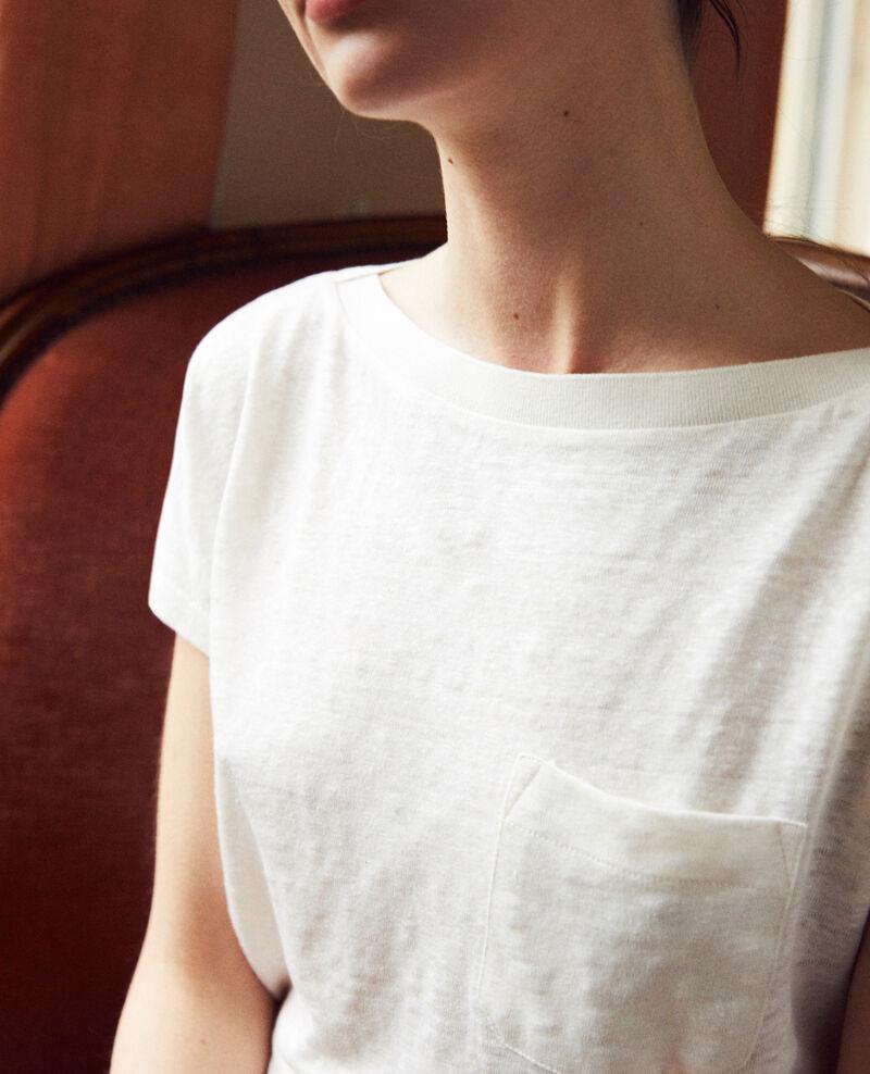 T-Shirt mit U-Boot-Ausschnitt Off white Jinolita