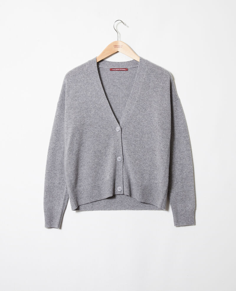 Cardigan aus 100 % Kaschmir Light grey Josiah