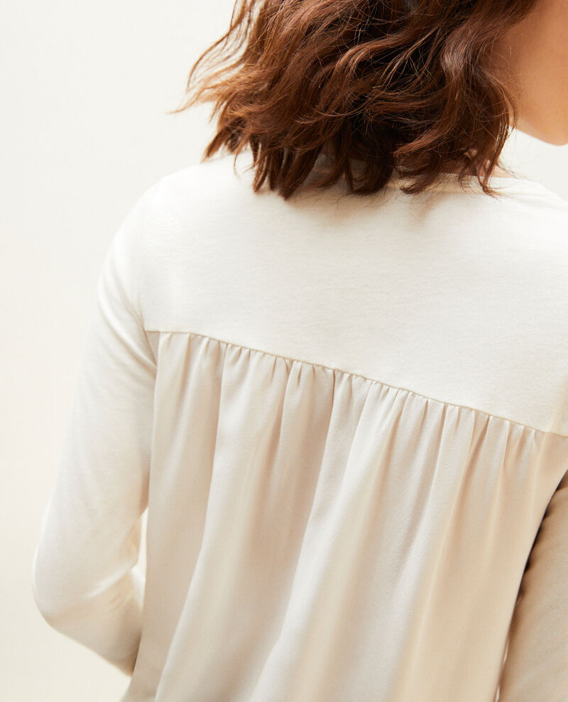T-Shirt aus Bimaterial Off white Ioko