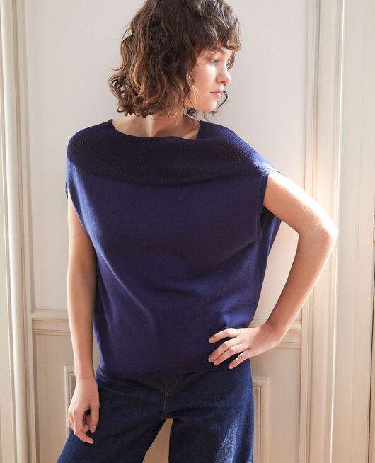 Whole Garment Pullover in Kugelform MEDIEVAL BLUE
