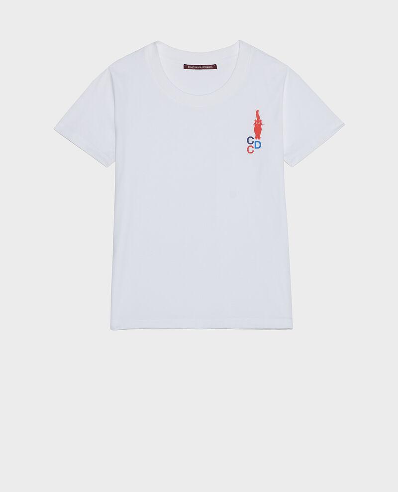 T-Shirt aus Baumwolle Fiery red Lecit