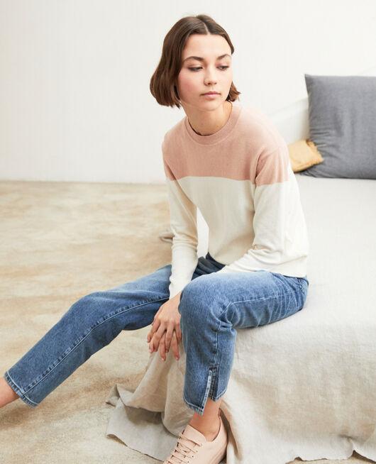 Straight-Jeans mit Schlitz VINTAGE WASH