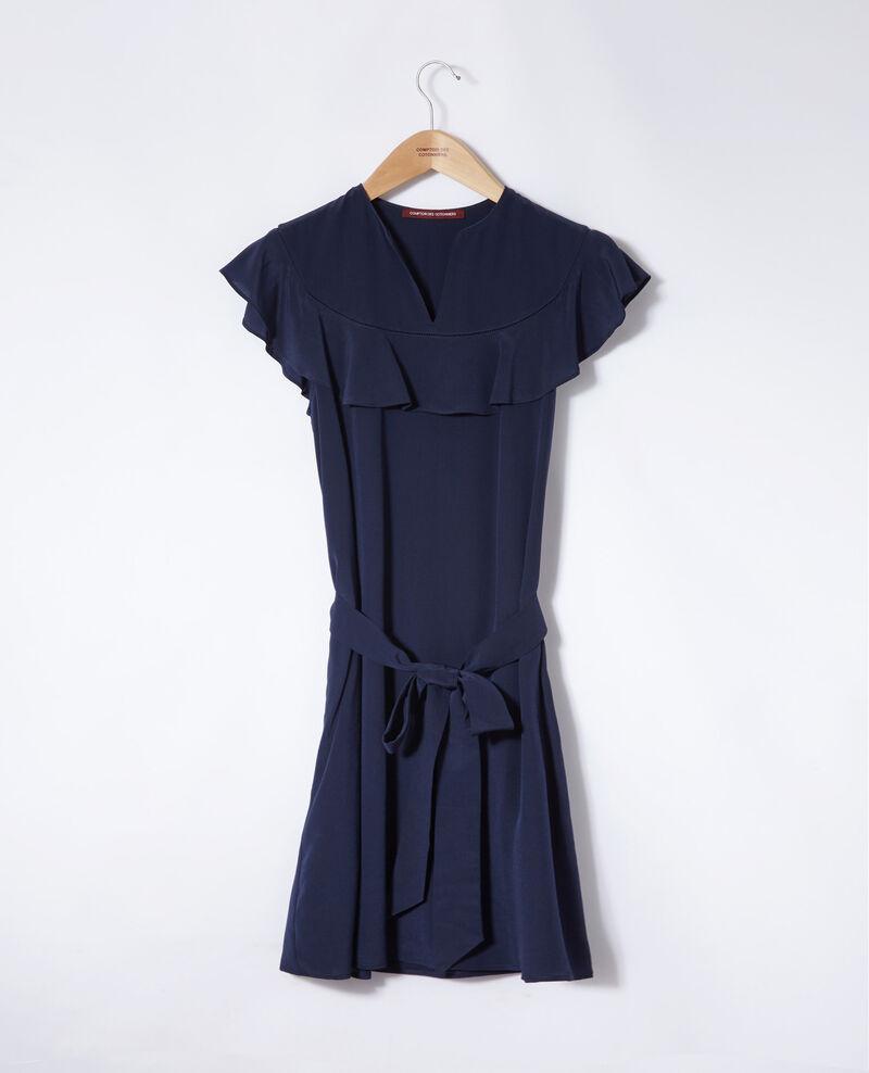 Rüschenkleid Blau Gaudence