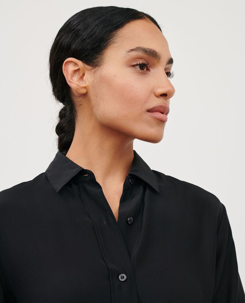 SIBYLLE - Seidenbluse Black beauty Loriges