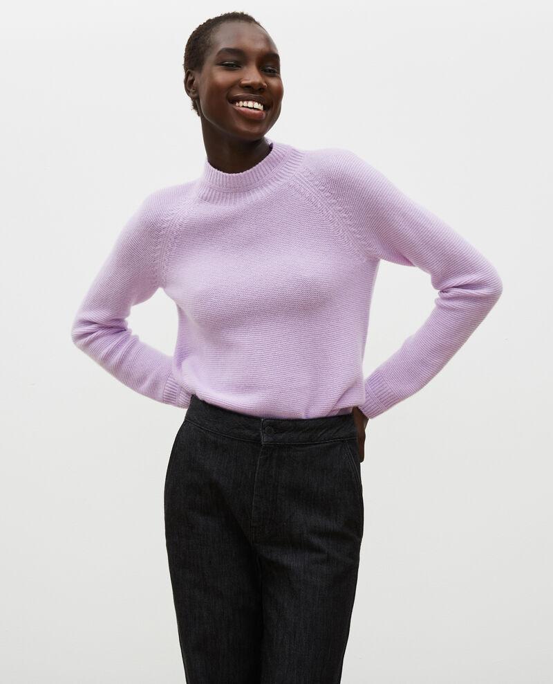 Ausgestellter 3D-Pullover aus Kaschmir mit Stehkragen Pastel lilac Manduel