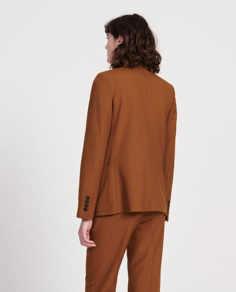 Blazer aus glatter Wolle Monks robe Luscade