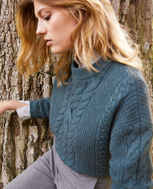 Pullover mit Zopfmuster SCARAB