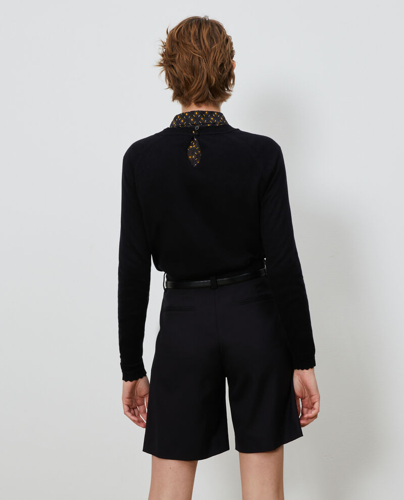Pullover aus Baumwolle und Seide Black beauty Nita