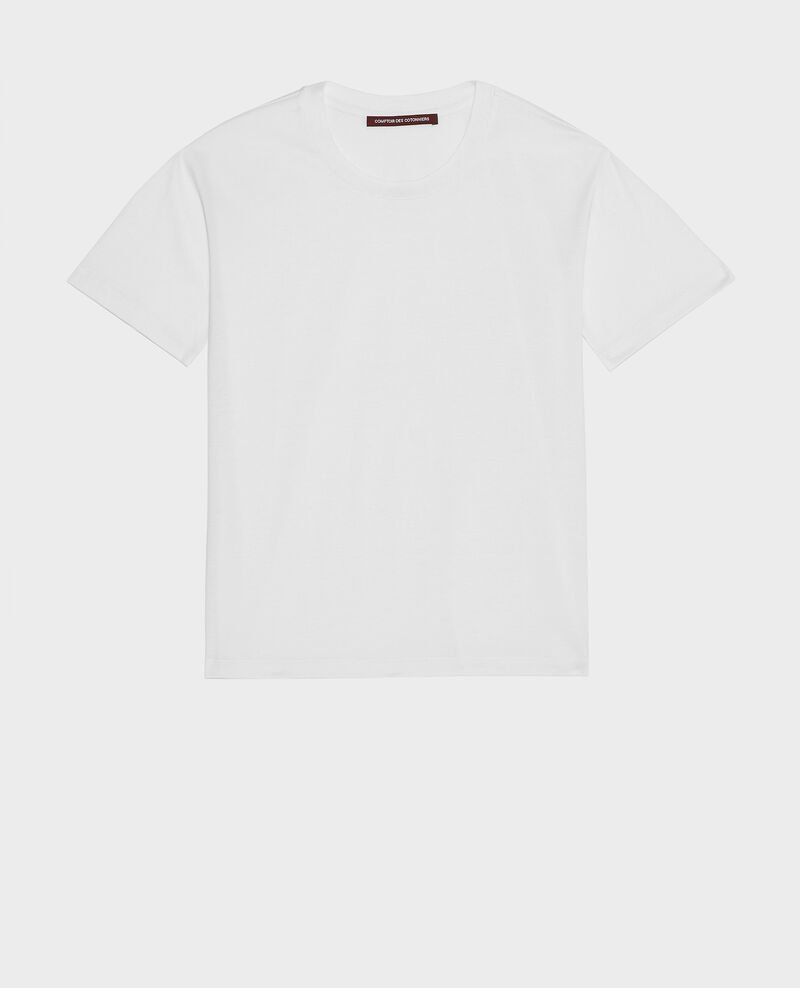 Kurzärmeliges T-Shirt aus Baumwolle Optical white Lirous