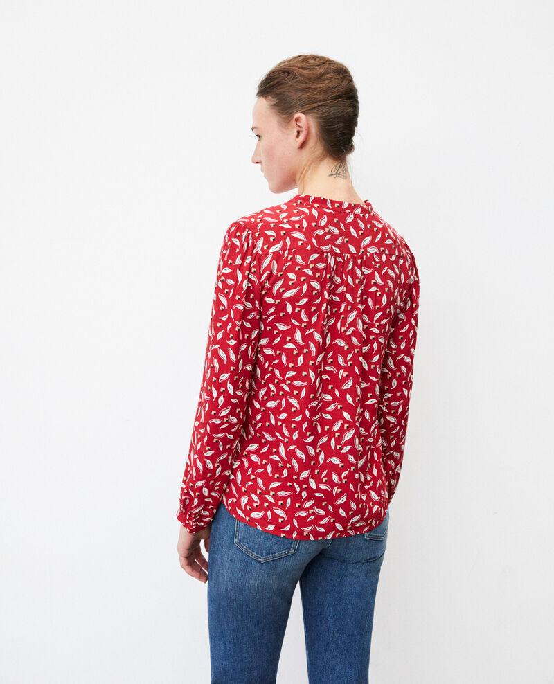Bluse mit tunesischem Kragen Earth red Gaela