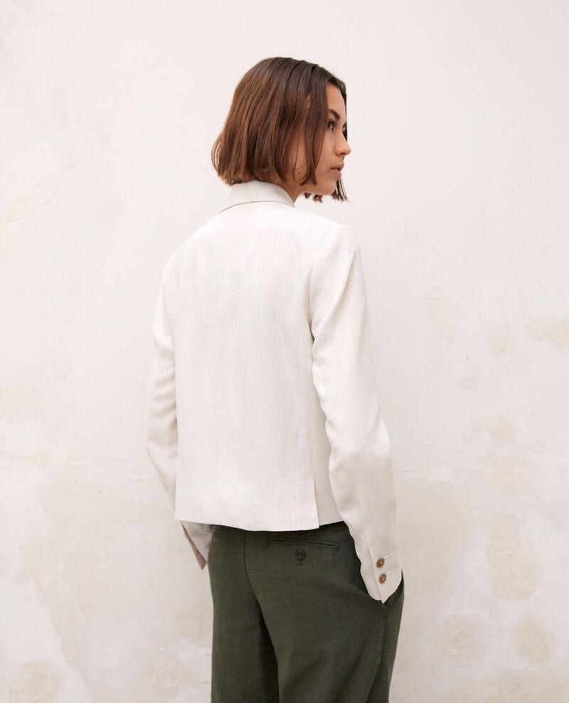 Kurzer Blazer Dust beige/off white Ireille