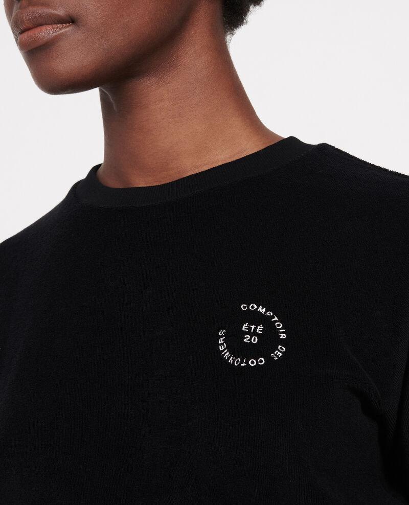 Frottee-T-Shirt aus 100 % Baumwolle Black beauty Lis