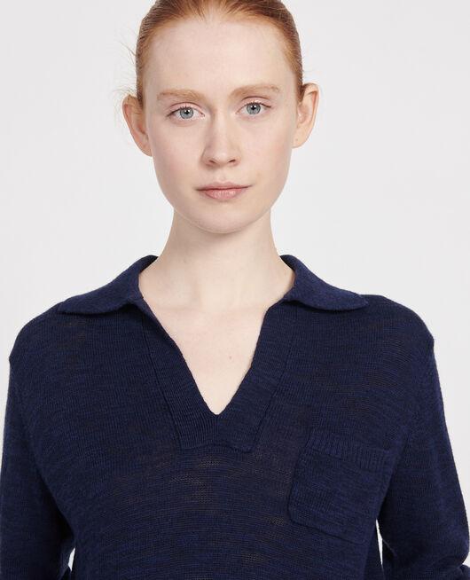 Pullover mit Leinen MARITIME BLUE