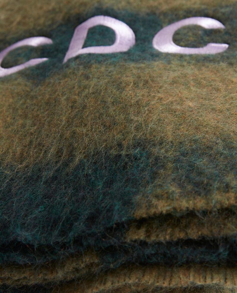 Maxi Wollschal mit CDC-Stickerei Rain forest Maxou