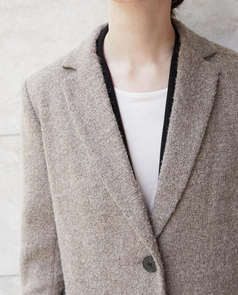 Kurzgeschnittener Mantel Beige Gitchina