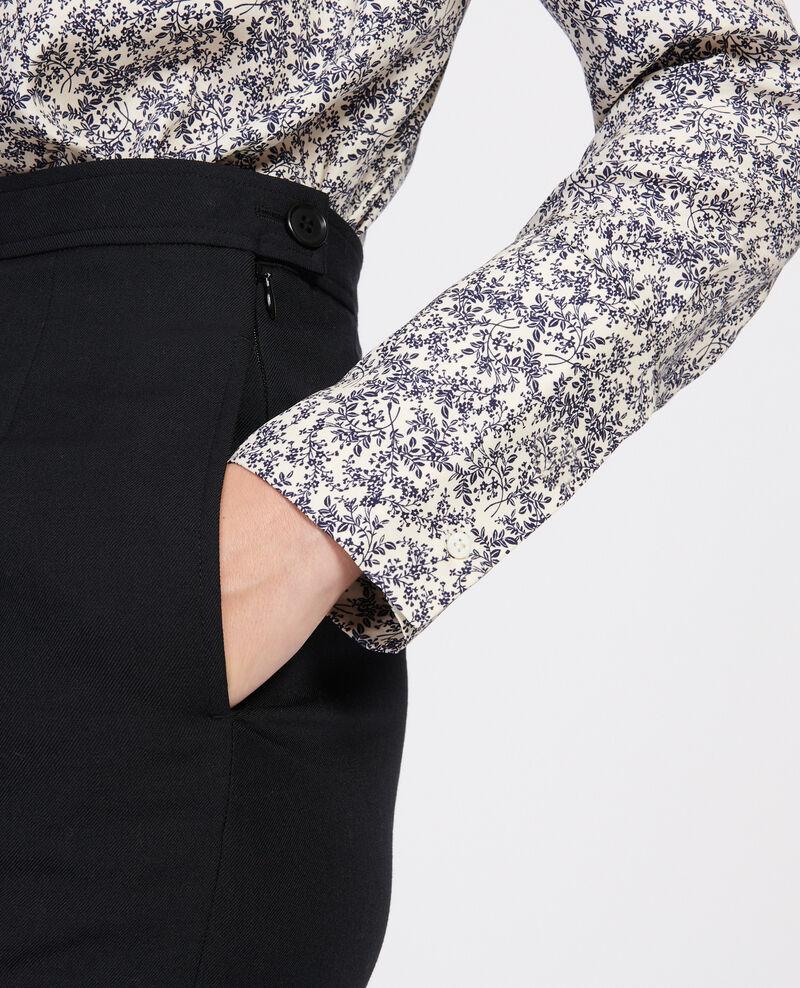 Bluse mit Aufdrucken Feuillage off white Laloun