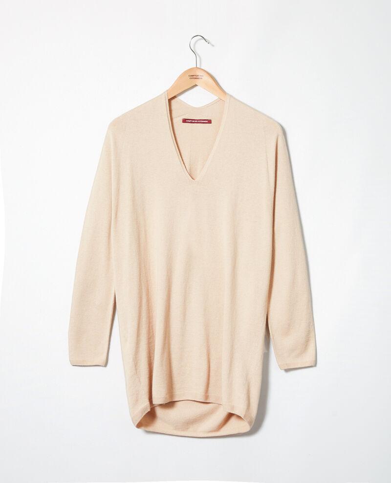 Pullover mit Kaschmir Sand beige Imouna