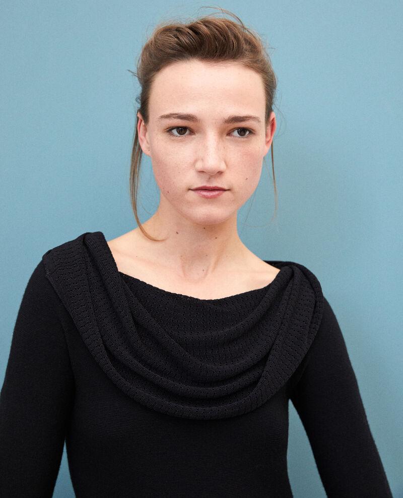 Whole Garment Kleid mit personalisierbarem Kragen Schwarz Gamelie