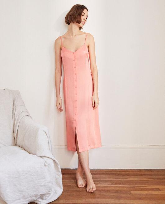 Kleid mit Seide SALMON PINK