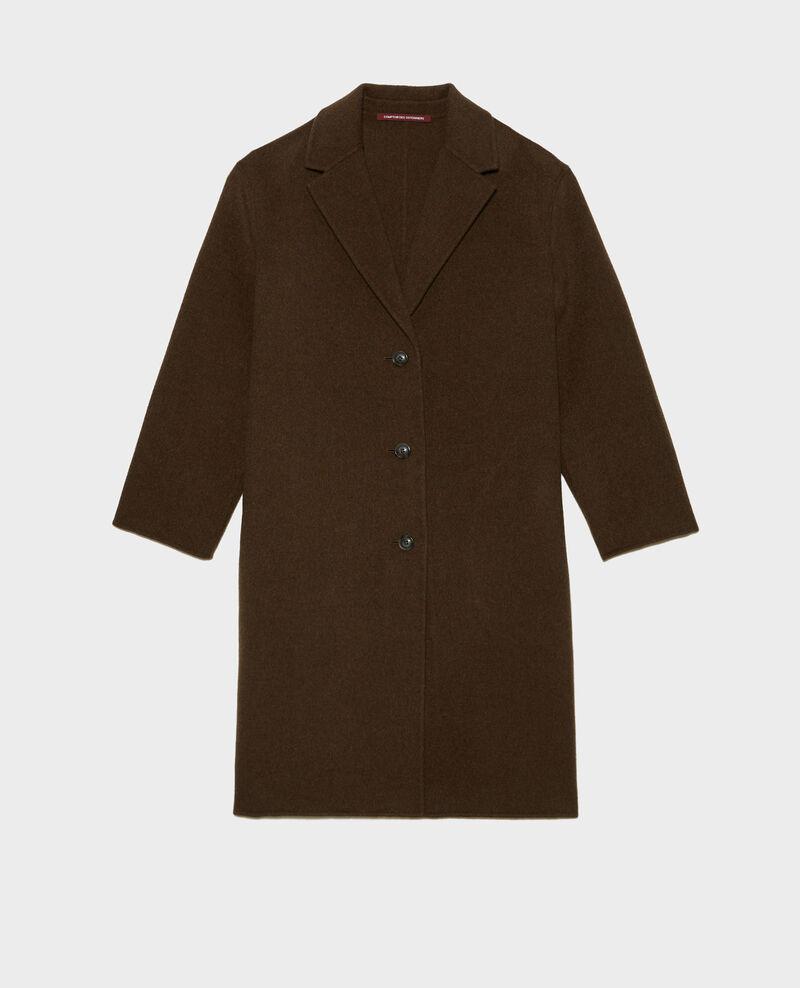 Mantel aus Wolle Kaki Maclas