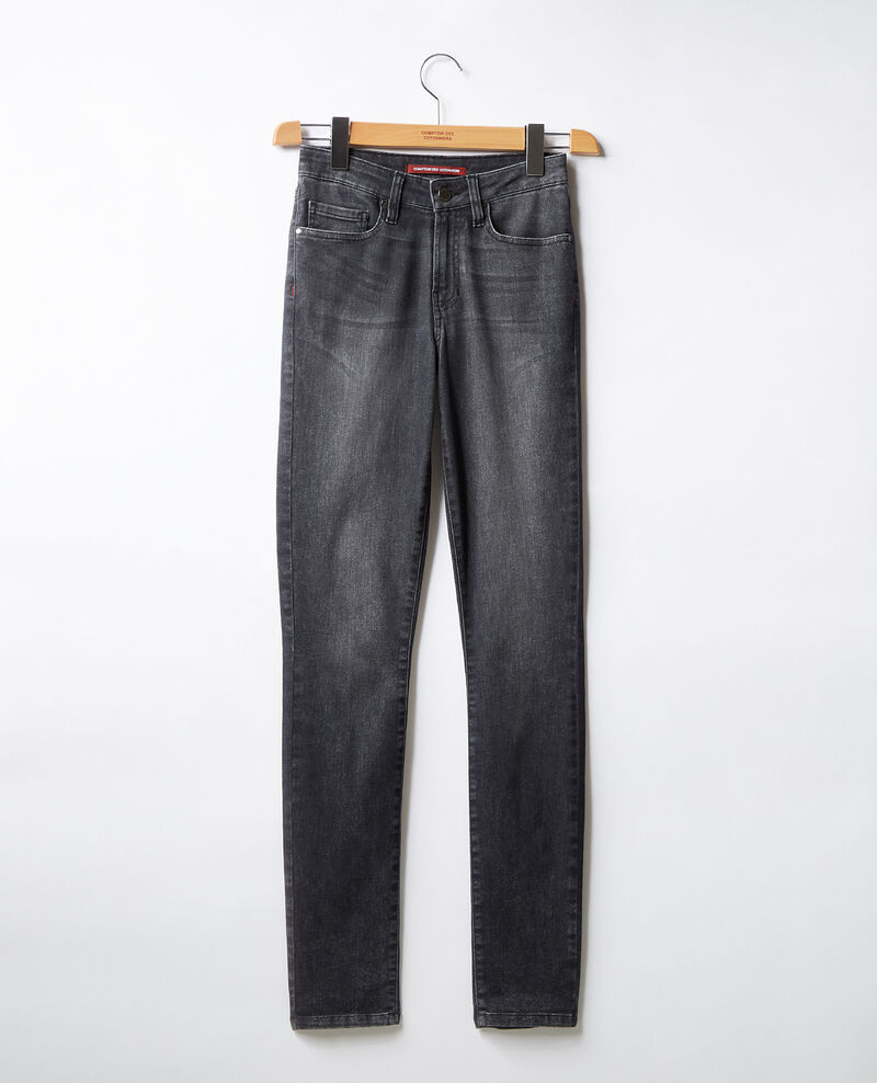 Jeans in Zigarettenform Dark grey Figiani