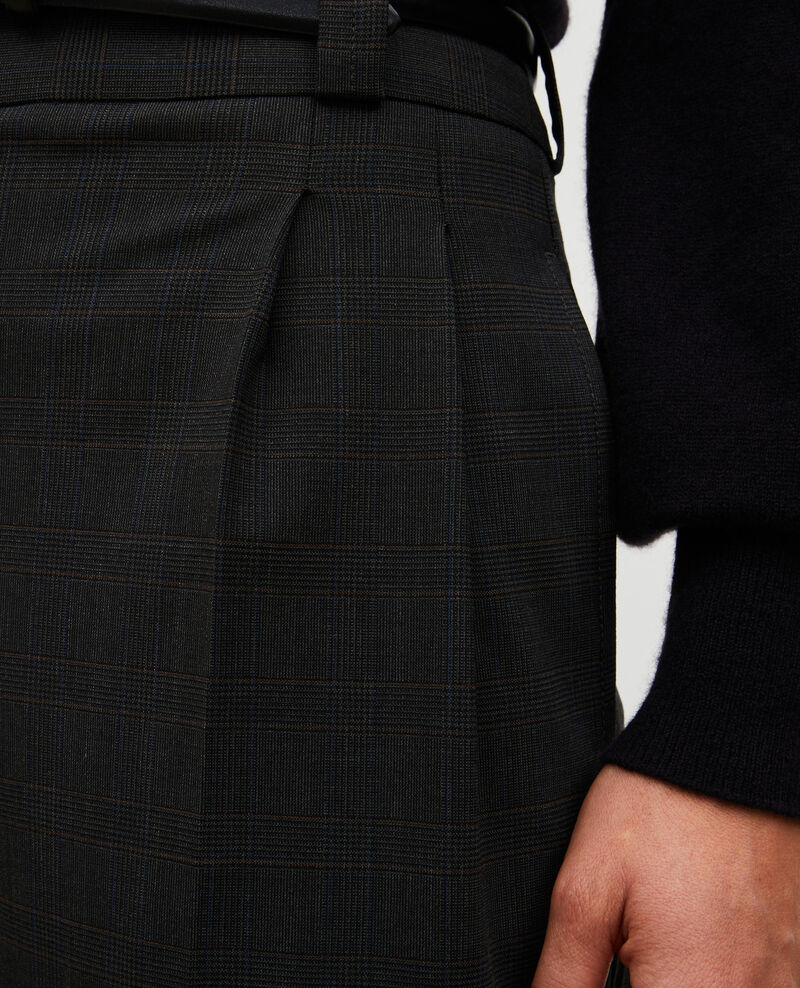 Weite Bermudashorts aus Prince of Wales-Wolle Check-wool-pattern-tailoring Marcelcave
