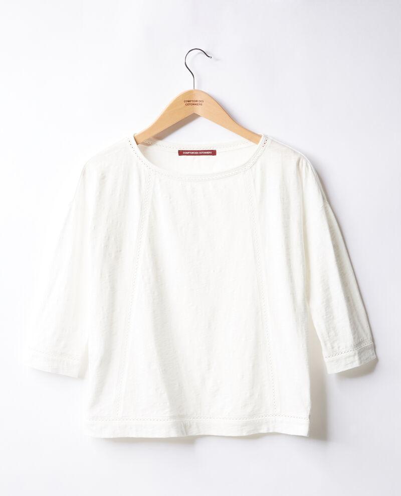 T-Shirt mit frechen Details Blanc Florin