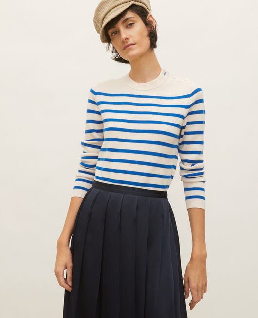 Wollpullover im Marinelook STRIPES PRINCESS BLUE GARDENIA