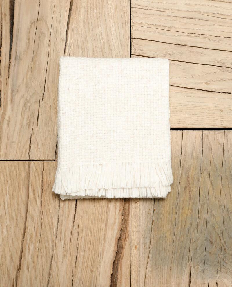 Breiter Schal Weiß Gene