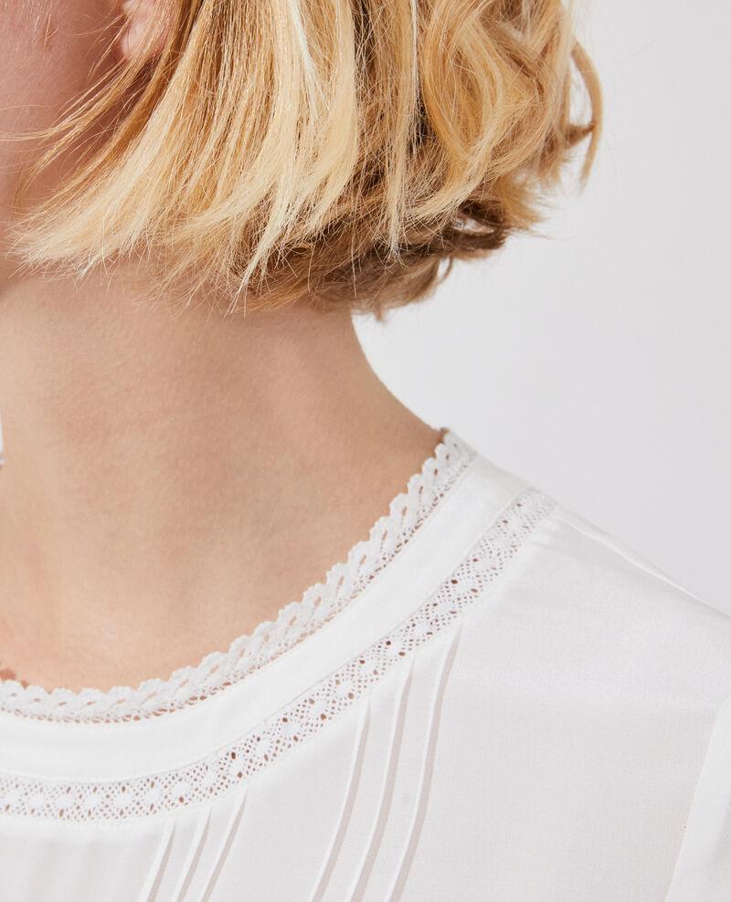 Fließende Bluse aus Seide und Spitze Gardenia Nargut