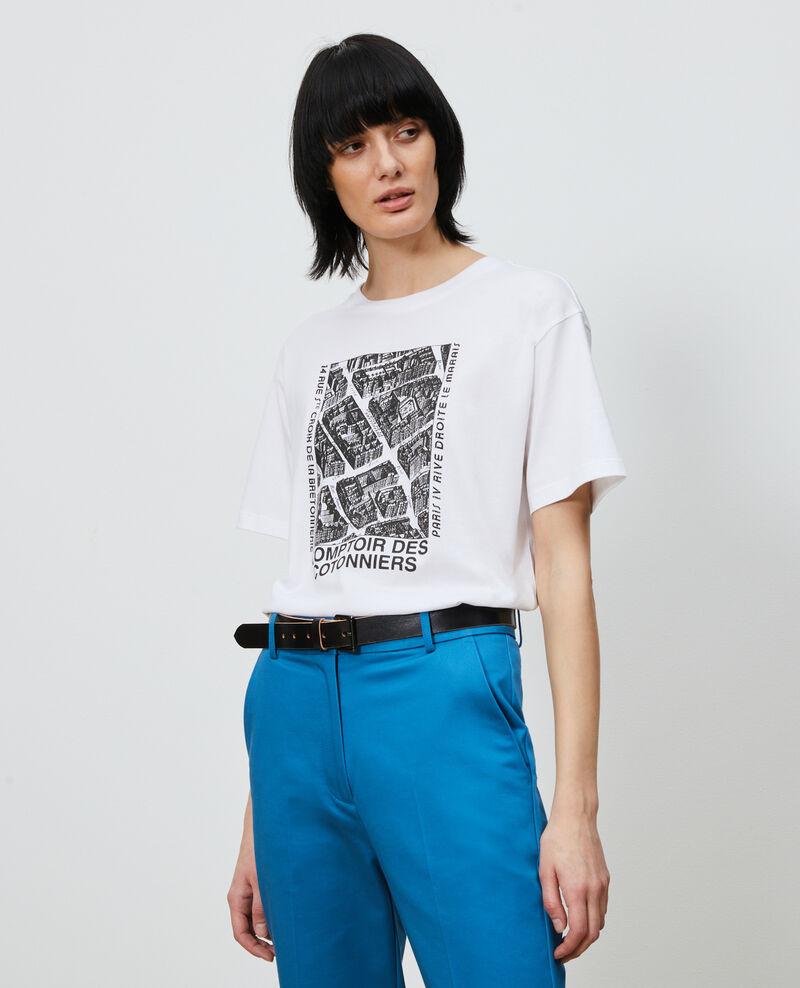 T-Shirt aus Baumwolle mit kurzen Ärmeln Black beauty Marlane