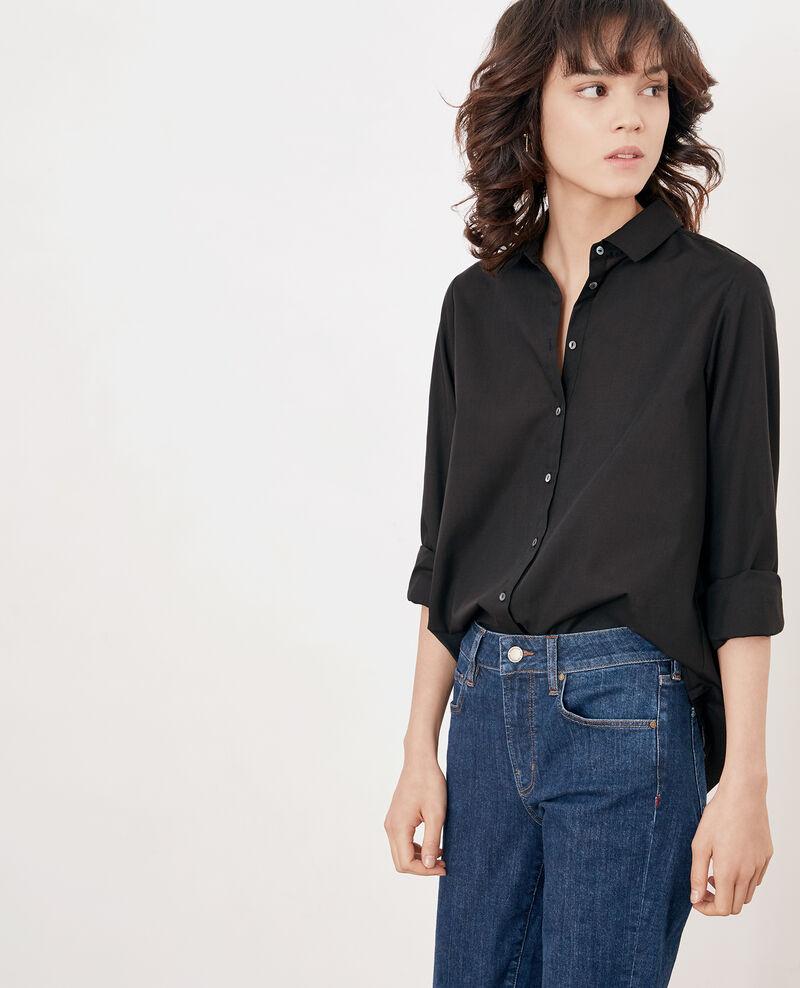 Bluse mit Rückenfalten Noir Fratrie