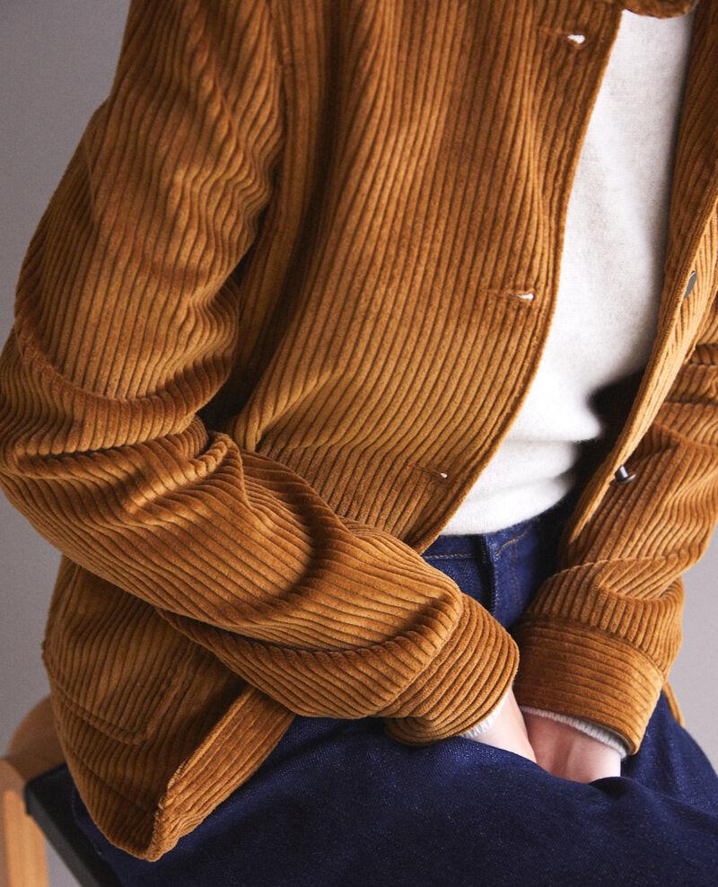 Jacke aus grobem Cord Golden brown Goiseau